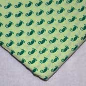 Green Beautiful Block Print Indian Cotton Fabric by the Yard