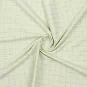 Green Beige Check Handloom Khadi Cotton Fabric-40765