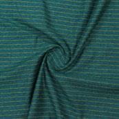 Green Beige Striped Handloom Khadi Cotton Fabric-40772