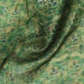 Green Blue Digital Organza Silk Fabric-51528