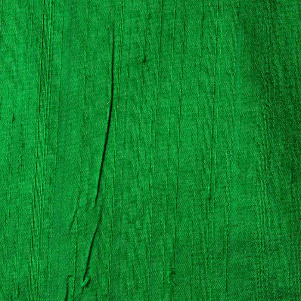 Green Dupion Pure Raw Silk Fabric