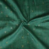 Green Golden Floral Print Jam Cotton Fabric-15221