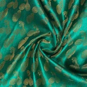 Green Golden Music Instrument Brocade Silk Fabric-9348