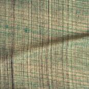 Green Khadi Block Print Cotton Fabric-14800