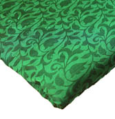 Green Leaf Pattern Brocade Silk Fabric-8229