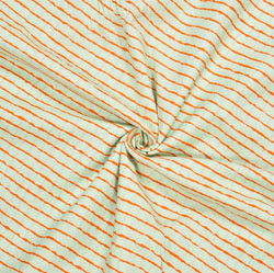 Green Orange Leheriya Cotton Fabric-28118