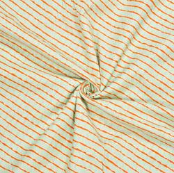 Green Orange Leheriya Cotton Fabric-28118