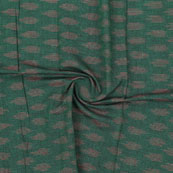 Green Pink Ikat Cotton Fabric-12323