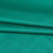 Green Plain Cotton Silk Fabric-16452