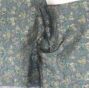 Green White Digital Floral Organza Silk Fabric-51740