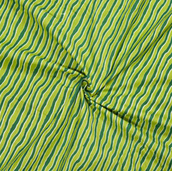 Green Yellow Leheriya Cotton Fabric-28105