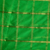 Green and Golden Lining Pattern Chiffon Indian Fabric-4368