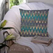 Green and Golden Silk Cushion Cover-35046