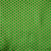 Green and Golden polka pattern brocade silk fabric-4609