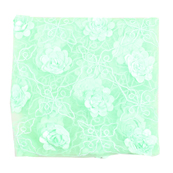 Green and White Flower Net Embroidery Fabric-60871