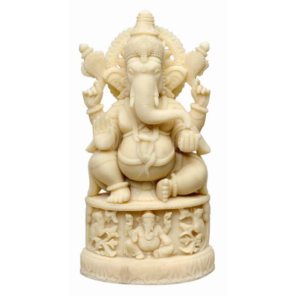 Haindpainted Ganesha Statue