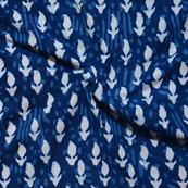 Indigo Blue Block Print Cotton Fabric-14599
