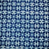 Indigo Blue and White Floral Indian Cotton Fabric by the yard
