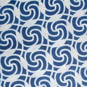 Indigo Blue and White Traditional Pattern Indian Cotton Fabric by the Yard