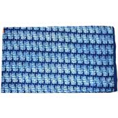 Indigo Blue and White Pattern Block Printed Indian Cotton Fabric