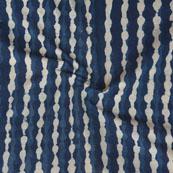 Indigo White Block Print Cotton Fabric-14779