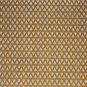 Light Brown and White Leaves Pattern Block Print Cotton Fabric by the yard