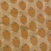 Light Brown and Wooden Grapes Brocade Silk Fabric-1051