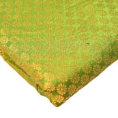 Light Green and Golden Small Flower Pattern Brocade Silk Fabric-8240