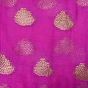 Light Purple and Golden Tree Pattern Chiffon Fabric-4356