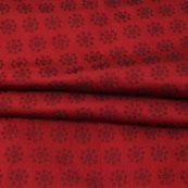 Maroon Black Polka Jacquard Brocade Silk Fabric-9132