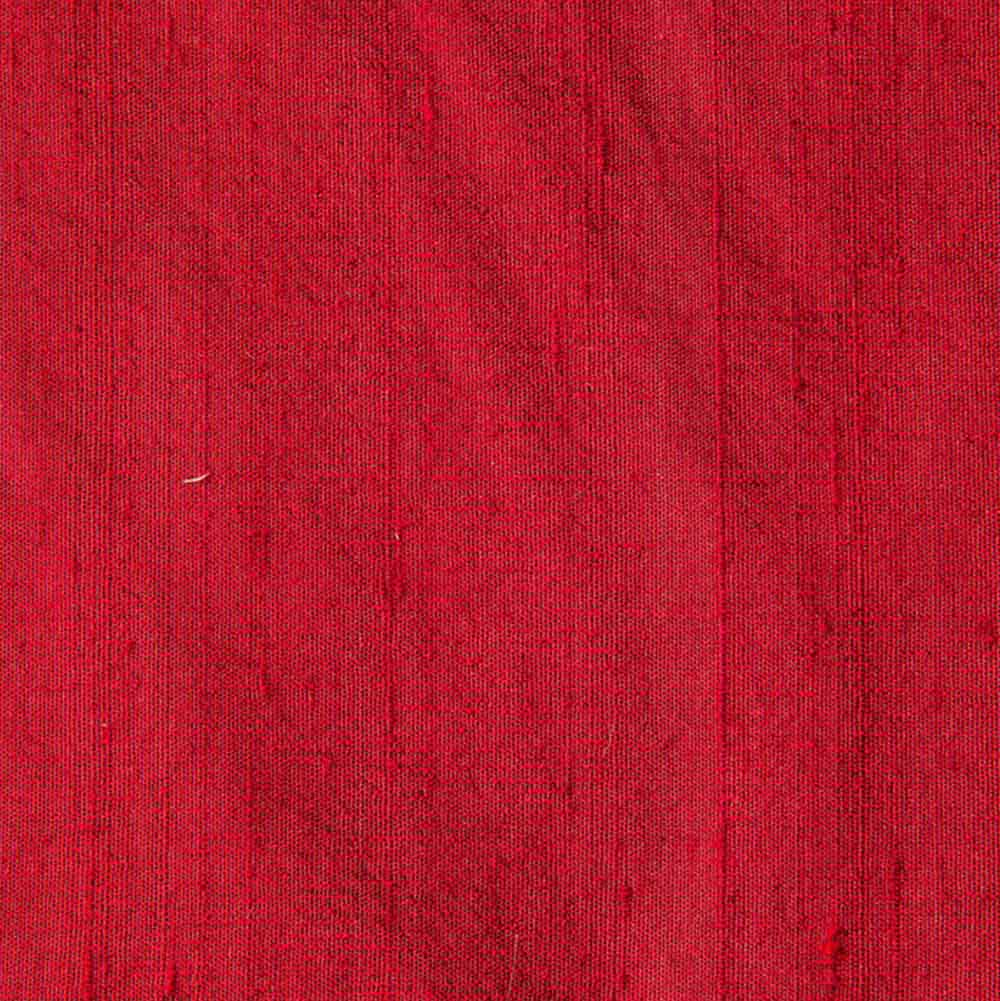 Maroon Dupion Pure Raw Silk Fabric