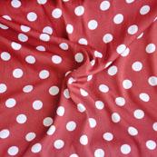 Maroon White Polka Crepe Silk Fabric-18212