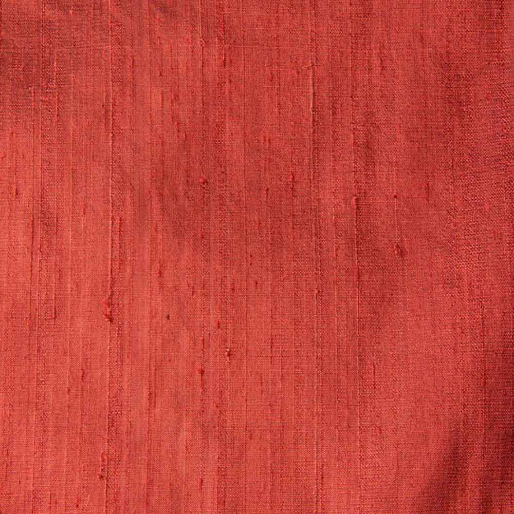 Maroon Wine Dupion Pure Raw Silk Fabric
