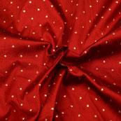 Maroon and Gold Dots Shape Brocade Silk Fabric-5408