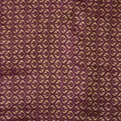 Maroon and Golden leaf pattern brocade silk fabric-4603
