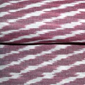 Maroon and White Ikat Fabric by the Yard
