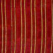 Maroon and Yellow Lining Pattern Indian Block Print Fabric by the yard