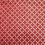 Maroon and golden leaf pattern brocade silk fabric-4989