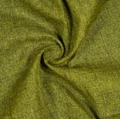 Mehndi Green Black Check Handloom Cotton Fabric-40883