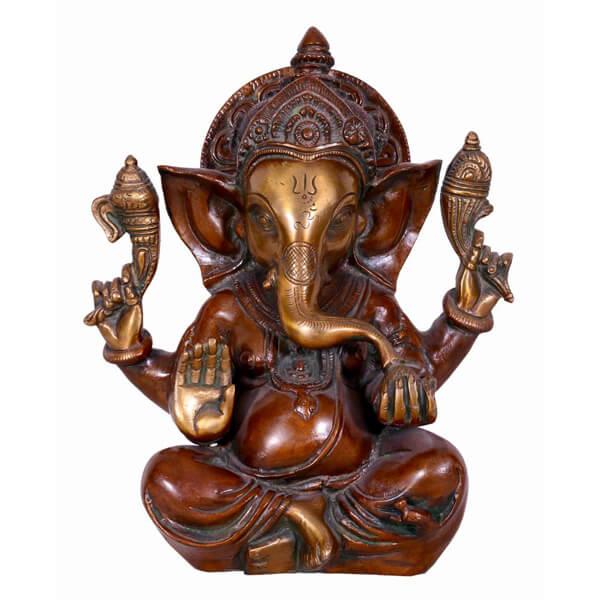 Metal figured Ganesha Statue
