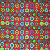 Multicolor Circular Pattern Block Print Cotton Fabric by the yard