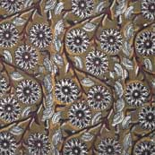 Multicolor Floral Hand Printed Kalamkari Cotton Fabric