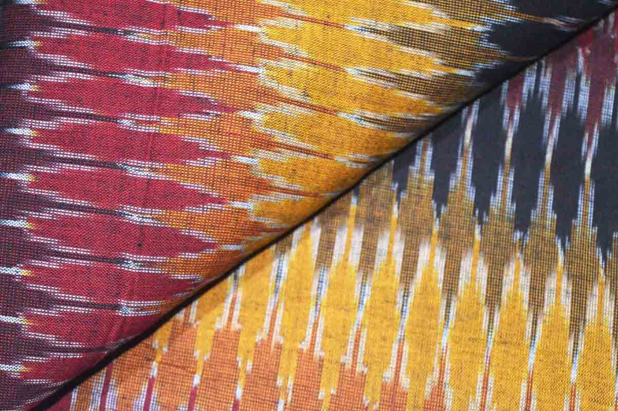 Multicolor Ikat Weaving Fabric by the Yard