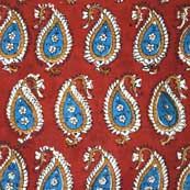 Multicolor Paisley Hand Block Printed Cotton Fabric