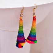 Multicolor Sike Handcrafted with Multicolor Tassel Drop Earring for Women