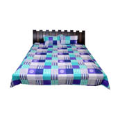 Multicolored Checks Printed Cotton Double King Size Bed Sheet-0G41