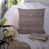 Multicolored Cotton Cushion Cover-35002