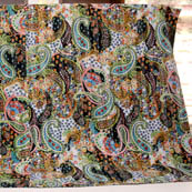 Multicolour Handmade Paisley Shape Kantha Quilt-4322