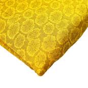 Mustard Yellow Flower Pattern Brocade Silk Fabric-8197
