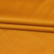 Mustard Yellow Plain Cotton Silk Fabric-16457